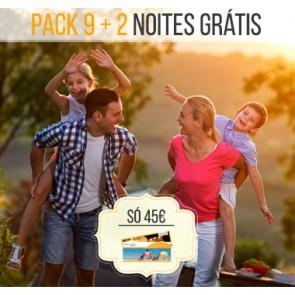Pack / Talonário 9 + 2 Noites, 2 Pessoas